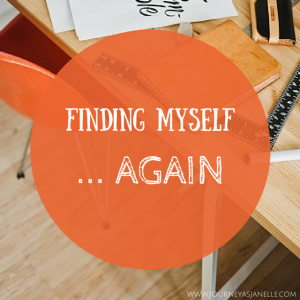 Social Media Graphic -- finding myself again